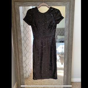 Bcbgmaxazria Black sequin dress
